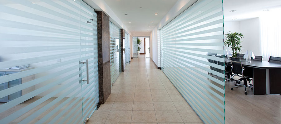 Frosted Glass Partitions